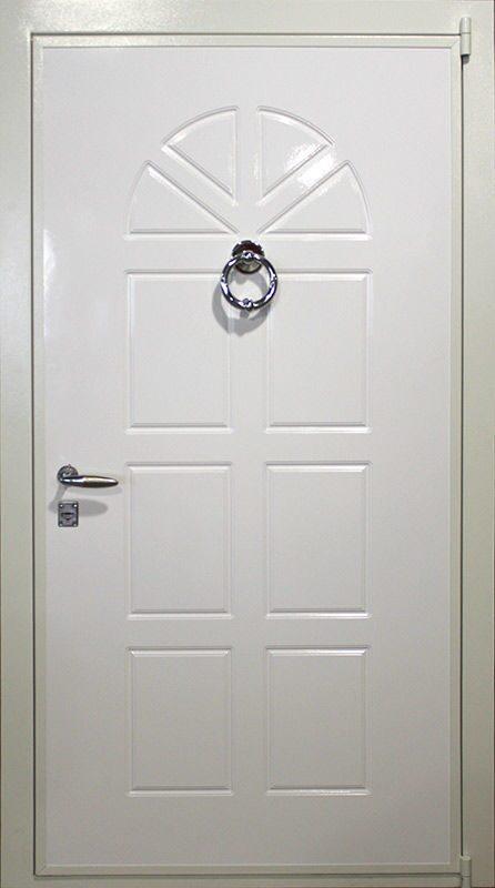 купить белая входная металлическая дверь