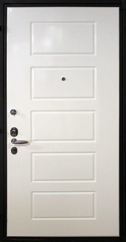 входная дверь металлическая с белой вставкой